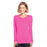 Cherokee Workwear 4881 Underscrubs Women's Long Sleeve Knit Tee Shocking Pink
