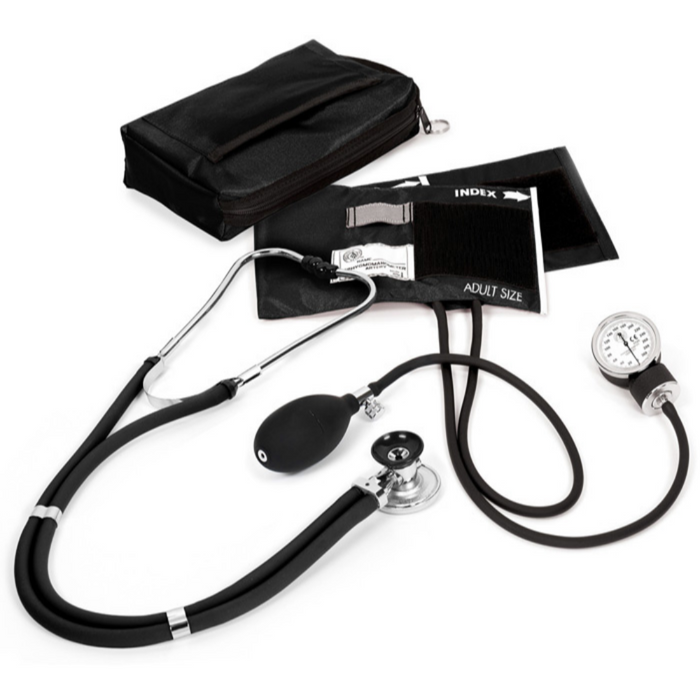 Prestige Basic Aneroid Sphygmomanometer / Sprague Rappaport Kit Black