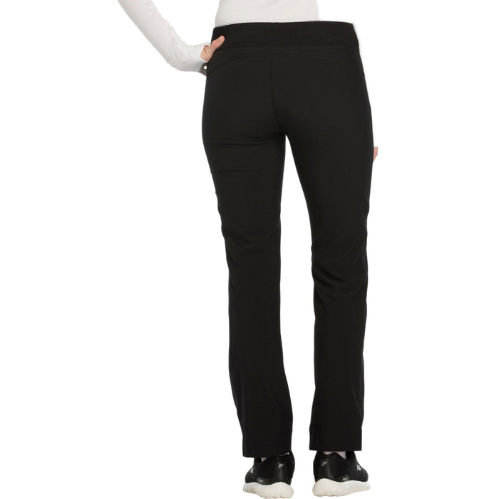 Cherokee Infinity CK100A Scrubs Pants Women's Mid Rise Tapered Leg Drawstring s Black 3XL