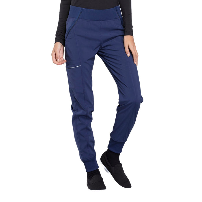 Cherokee Infinity CK110A Scrubs Pants Women's Mid Rise Tapered Leg Jogger Navy