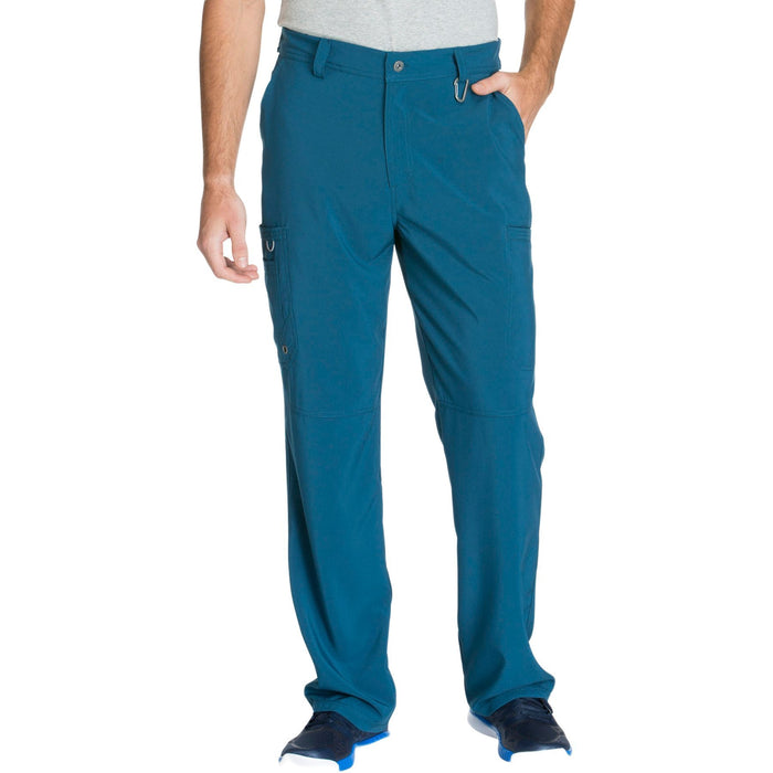 Cherokee Infinity CK200A Scrubs Pants Men's Fly Front Caribbean Blue