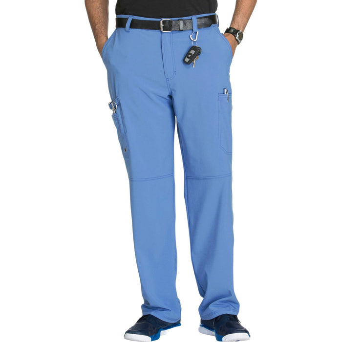 Cherokee Infinity CK200A Scrubs Pants Men's Fly Front Ceil Blue