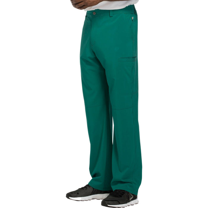 Cherokee Infinity CK200A Scrubs Pants Men's Fly Front Hunter Green 4XL