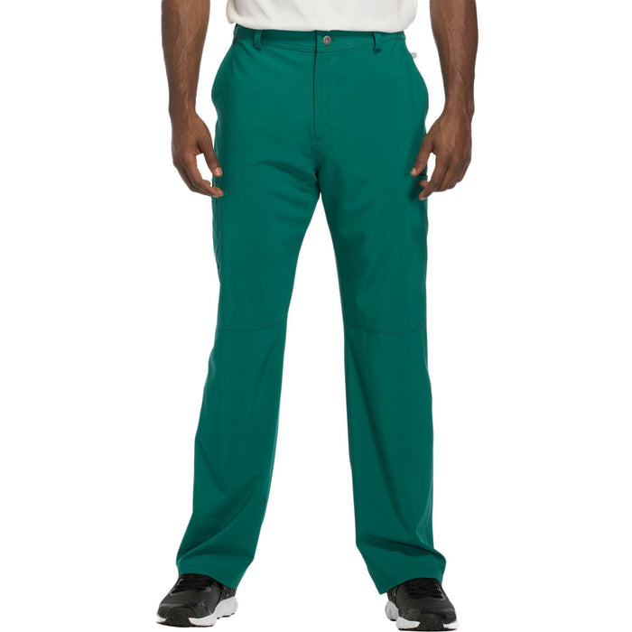 Cherokee Infinity CK200A Scrubs Pants Men's Fly Front Hunter Green