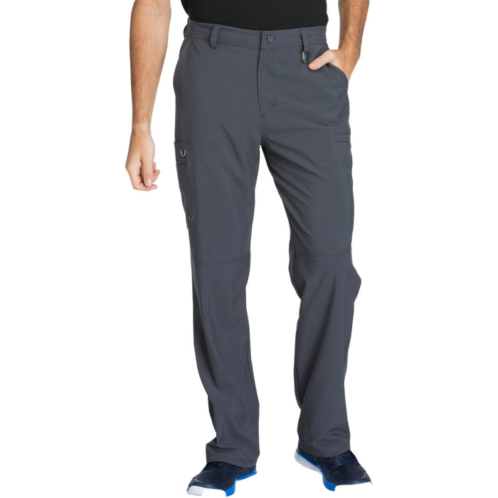 Cherokee Infinity CK200A Scrubs Pants Men's Fly Front Pewter