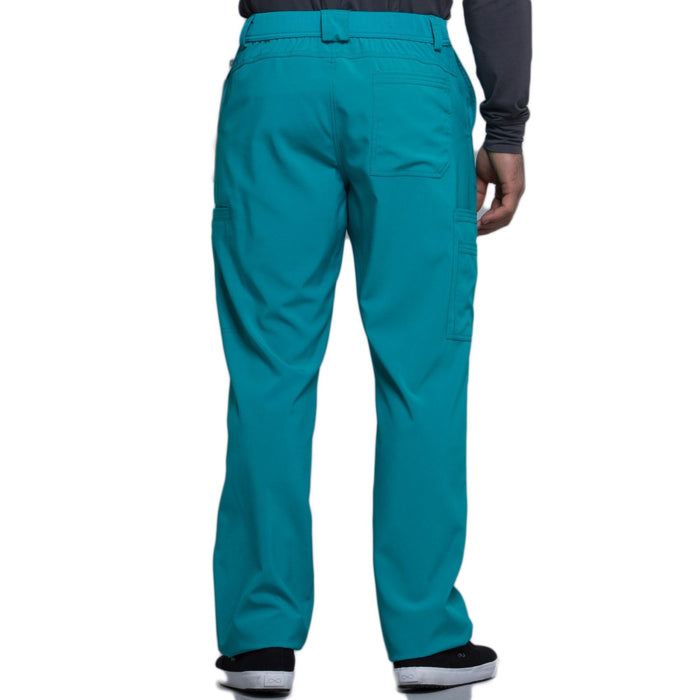 Cherokee Infinity CK200A Scrubs Pants Men's Fly Front Teal Blue 3XL