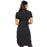 "Cherokee Infinity CK510A Dress Women's 39"" Button Front Black 3XL"