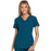 Cherokee iflex CK605 Scrubs Top Women's V-Neck Knit Panel Caribbean Blue