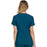 Cherokee iflex CK605 Scrubs Top Women's V-Neck Knit Panel Caribbean Blue 3XL