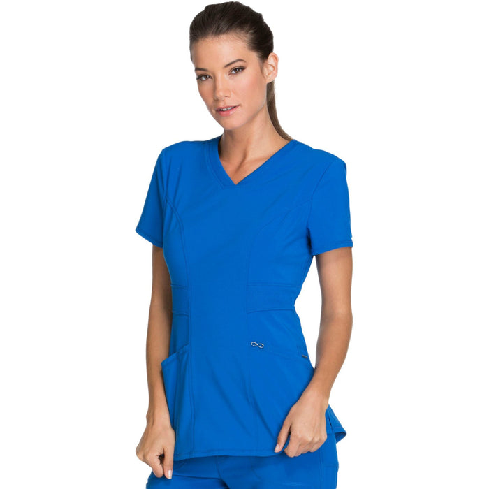 Cherokee Infinity CK623A Scrubs Top Women's V-Neck Royal 4XL