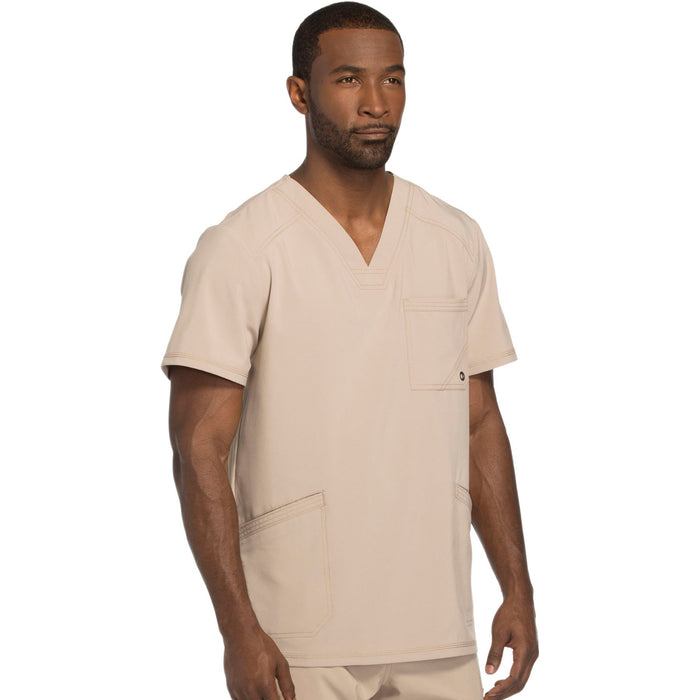 Cherokee Infinity CK900A Scrubs Top Men's V-Neck Khaki 5XL