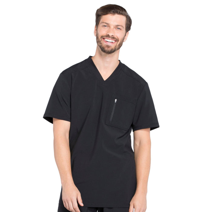 Cherokee Infinity CK910A Scrubs Top Men's V-Neck Black