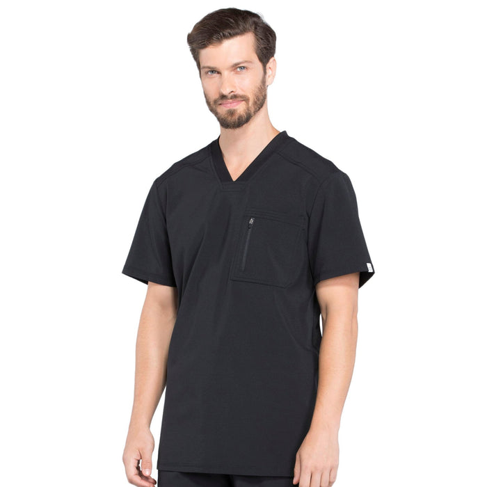 Cherokee Infinity CK910A Scrubs Top Men's V-Neck Black 4XL
