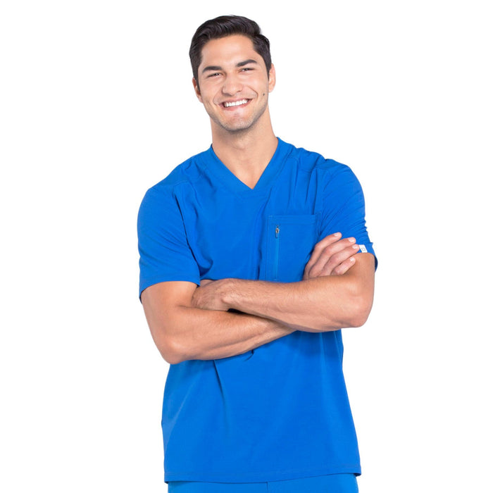 Cherokee Infinity CK910A Scrubs Top Men's V-Neck Royal