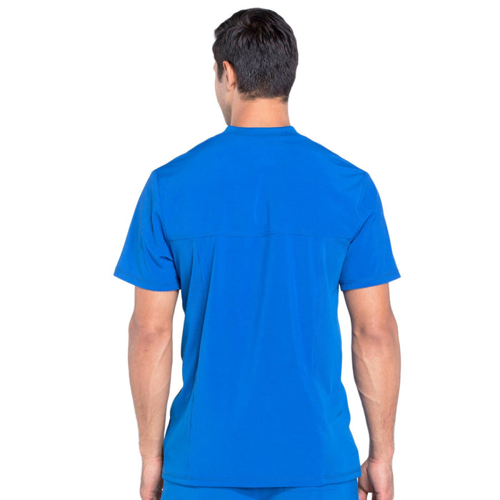 Cherokee Infinity CK910A Scrubs Top Men's V-Neck Royal 3XL
