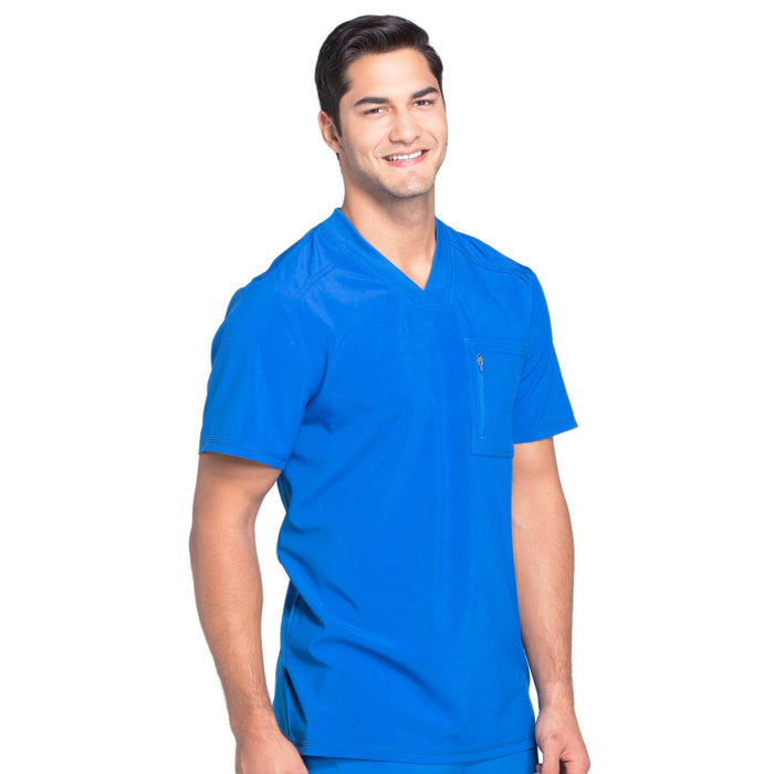 Cherokee Infinity CK910A Scrubs Top Men's V-Neck Royal 5XL