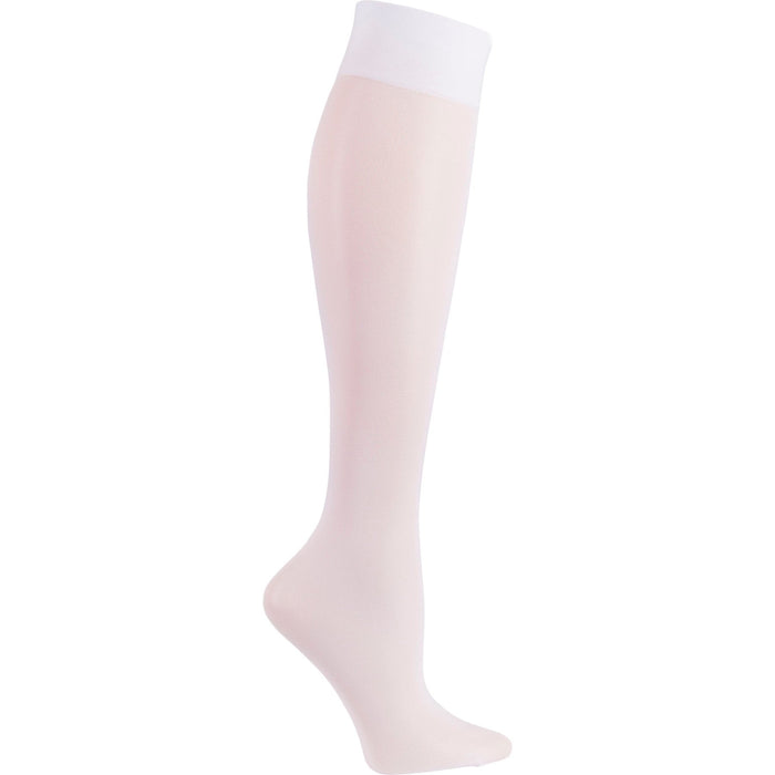 Cherokee FASHIONSUPPORT Socks Women's Knee High 12 mmHg Compression White OS