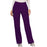 Cherokee Workwear Revolution WW110 Scrubs Pants Women's Mid Rise Straight Leg Pull-on Eggplant