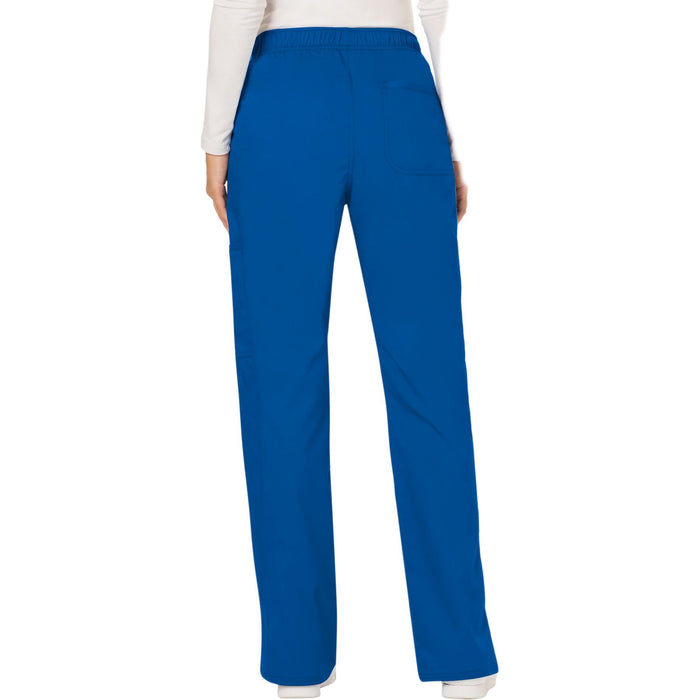 Cherokee Workwear Revolution WW120 Scrubs Pants Women's Mid Rise Moderate Flare Drawstring Royal 3XL