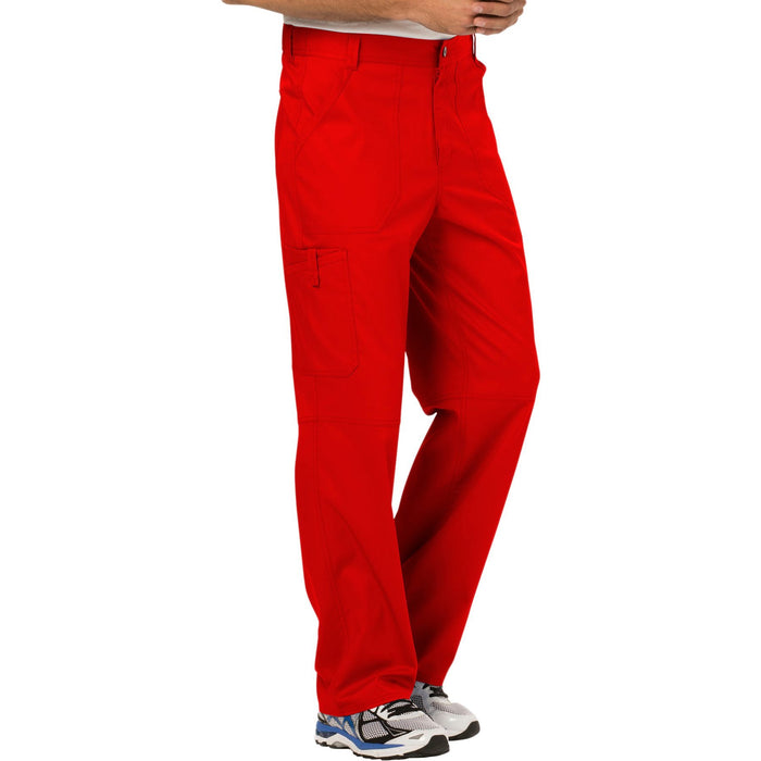Cherokee Workwear Revolution WW140 Scrubs Pants Men's Fly Front Red 5XL