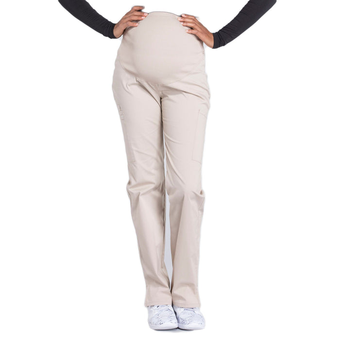 Cherokee Workwear Professionals WW220 Scrubs Pants Maternity Straight Leg Khaki