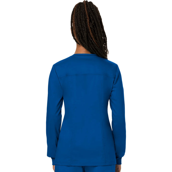 Cherokee Workwear Revolution WW310 Scrubs Jacket Women's Snap Front Warm-up Royal 3XL