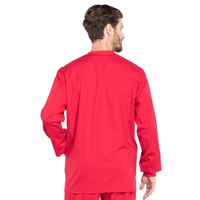Cherokee Workwear Professionals WW360 Scrubs Jacket Men's Warm-up Red 3XL
