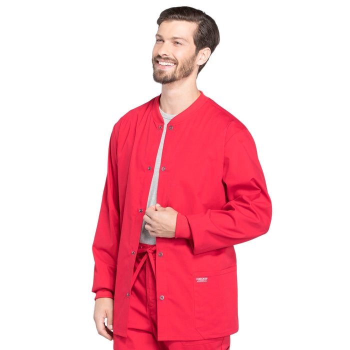 Cherokee Workwear Professionals WW360 Scrubs Jacket Men's Warm-up Red 4XL