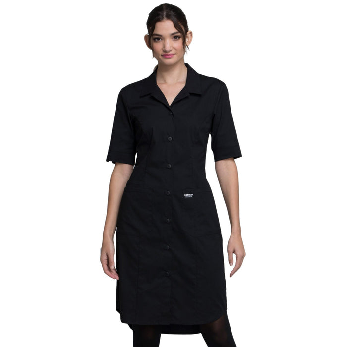 Cherokee Workwear Professionals WW500 Dress Women's Button Front Black