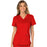 Cherokee Workwear Revolution WW610 Scrubs Top Women's Mock Wrap Red