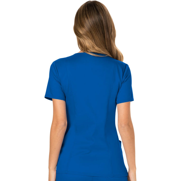 Cherokee Workwear Revolution WW610 Scrubs Top Women's Mock Wrap Royal 3XL