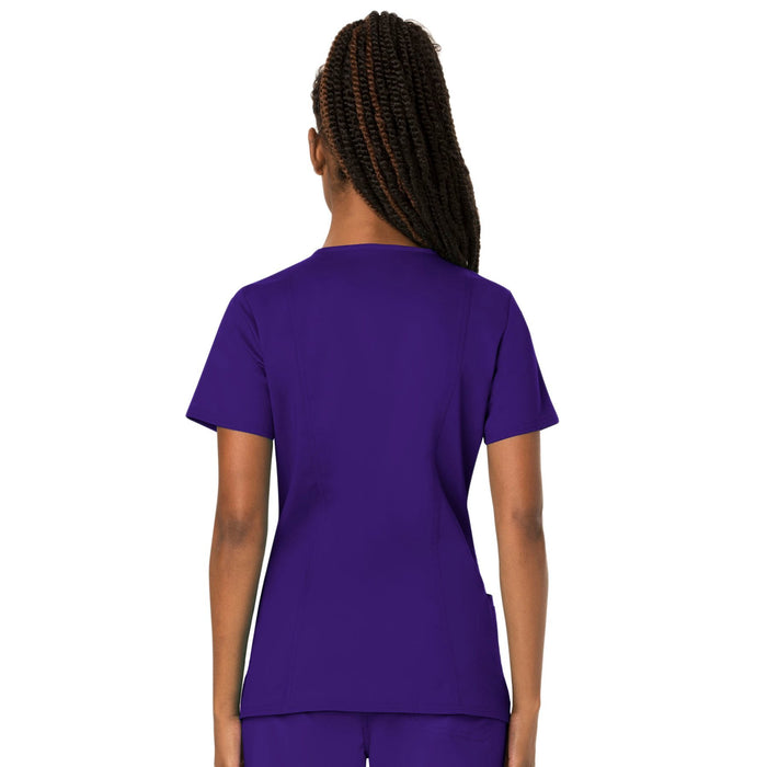 Cherokee Workwear Revolution WW620 Scrubs Top Women's V-Neck Grape 3XL
