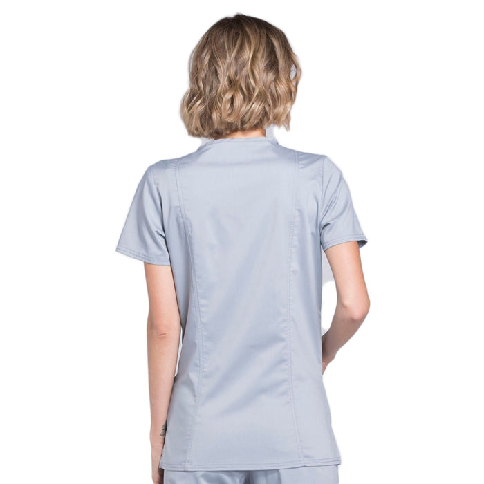 Cherokee Workwear Revolution WW620 Scrubs Top Women's V-Neck Grey 3XL