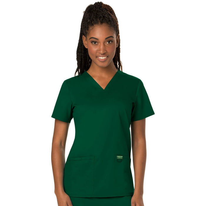 Cherokee Workwear Revolution WW620 Scrubs Top Women's V-Neck Hunter Green