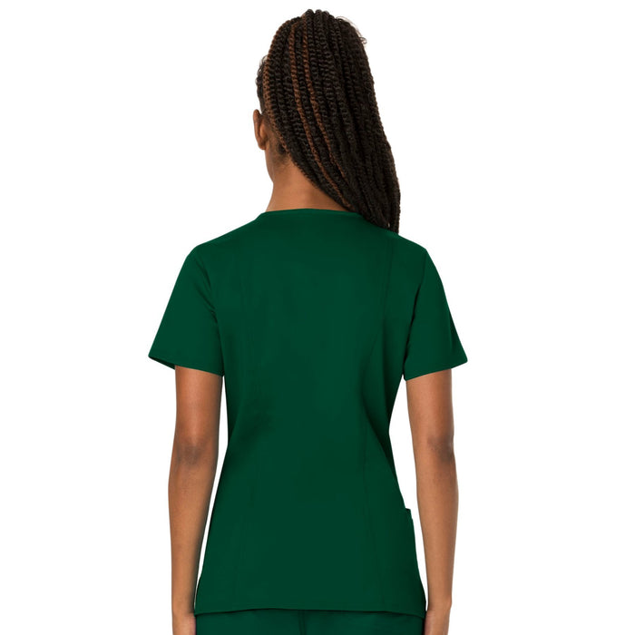 Cherokee Workwear Revolution WW620 Scrubs Top Women's V-Neck Hunter Green 3XL
