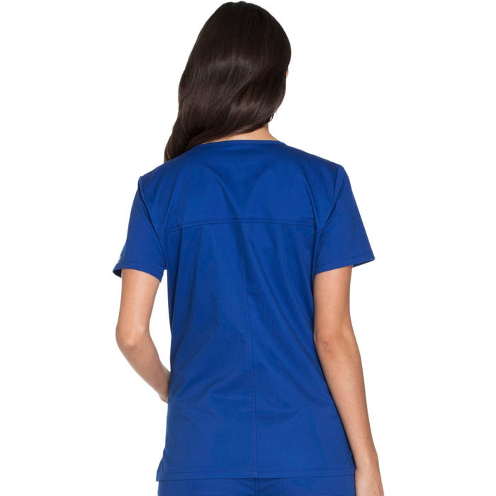 Cherokee Core Stretch WW630 Scrubs Top Women's V-Neck Galaxy Blue 3XL