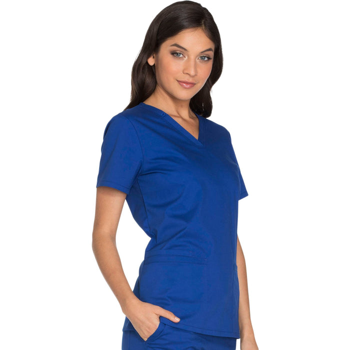 Cherokee Core Stretch WW630 Scrubs Top Women's V-Neck Galaxy Blue 5XL