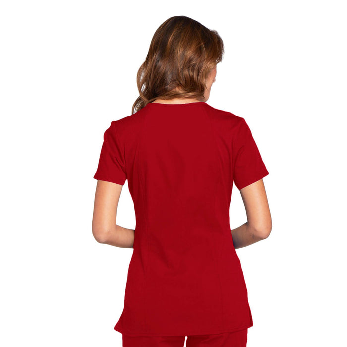 Cherokee Workwear WW645 Scrubs Top Women's V-Neck Red 3XL