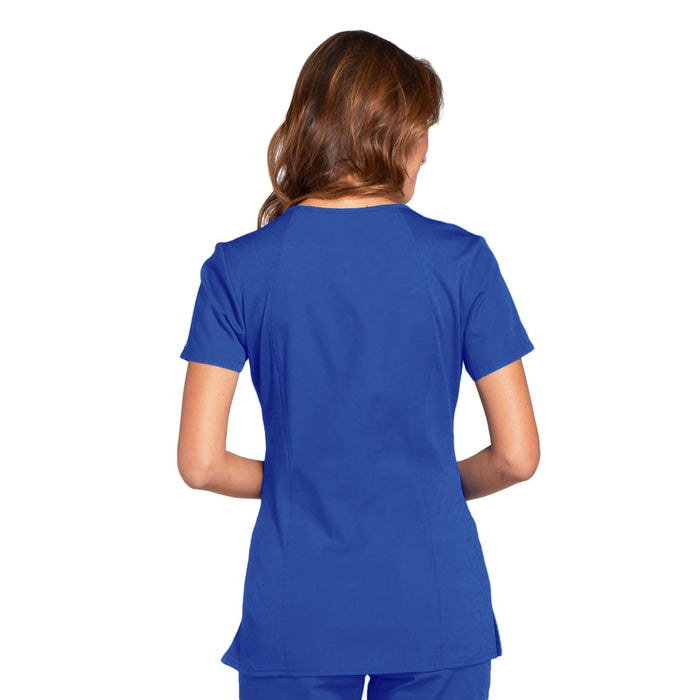 Cherokee Workwear WW645 Scrubs Top Women's V-Neck Royal 3XL