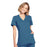 Cherokee Workwear WW650 Scrubs Top Women's Mock Wrap Caribbean Blue