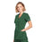 Cherokee Workwear WW650 Scrubs Top Women's Mock Wrap Hunter Green 4XL