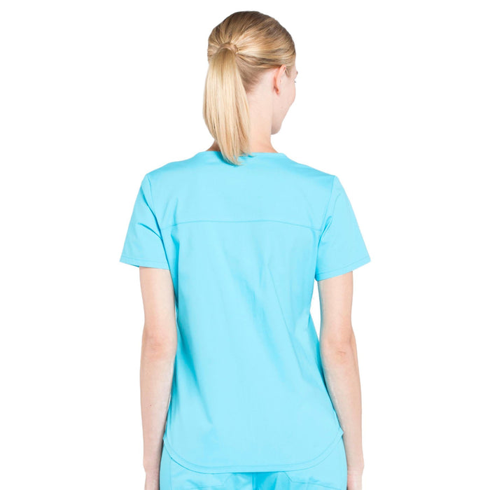Cherokee Workwear Professionals WW665 Scrubs Top Women's V-Neck Turquoise 3XL