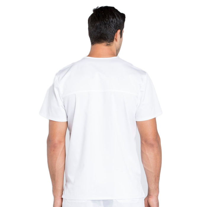 Cherokee Workwear Revolution WW670 Scrubs Top Men's V-Neck White 3XL