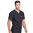 Cherokee Workwear Professionals WW675 Scrubs Top Men's V-Neck Black 5XL