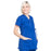 Cherokee Workwear Professionals WW685 Scrubs Top Maternity Mock Wrap Galaxy Blue M
