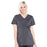 Cherokee Workwear Professionals WW685 Scrubs Top Maternity Mock Wrap Pewter