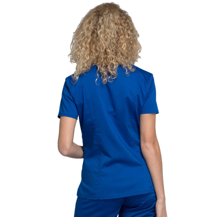 Cherokee Workwear Revolution WW710 Scrubs Top Women's V-Neck Galaxy Blue 3XL