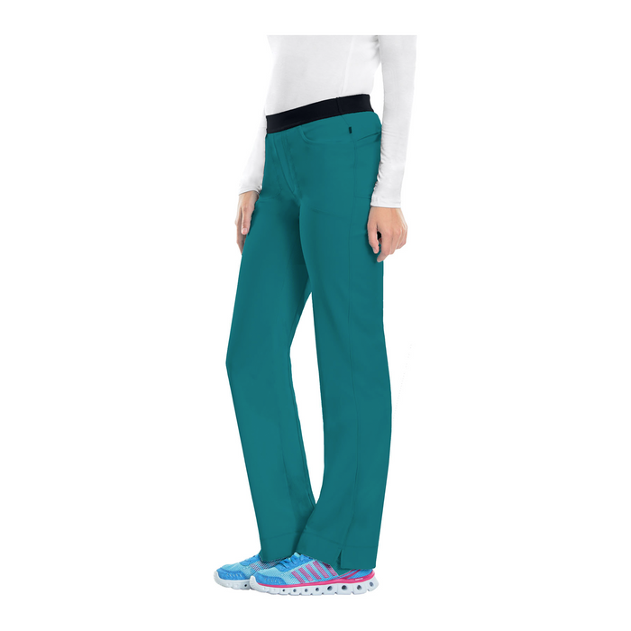 Cherokee Infinity 1124A Scrubs Pants Women's Low Rise Slim Pull-On Teal Blue 3XL