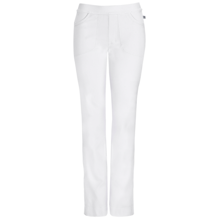 Cherokee Infinity 1124A Scrubs Pants Women's Low Rise Slim Pull-On White