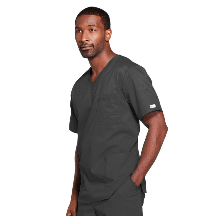 Cherokee Scrubs Top Cherokee Core Stretch 4725 Scrubs Top Unisex V-Neck Pewter